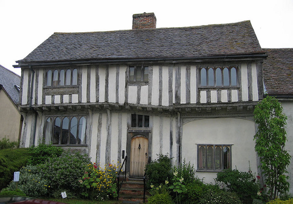 Crooked House in Lavenham, Cambridgeshire UK