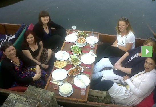 Thai Banquette at Cambridge Chauffeur Punts punting tour