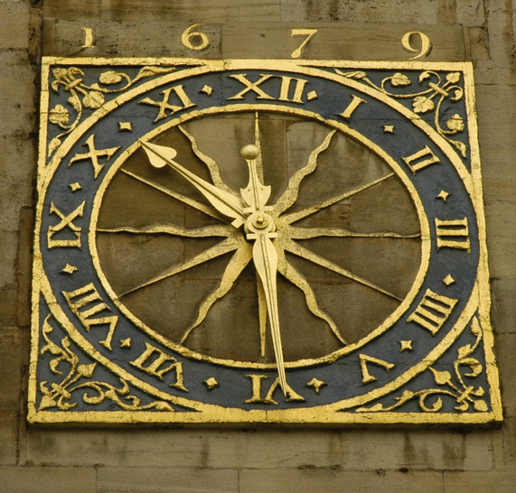 Clock on St Mary's Church, Cambridge