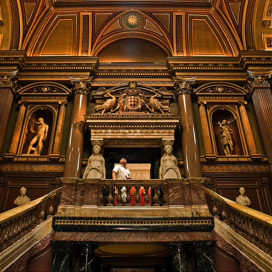 Interior of the Fitzwilliam museum, Cambridge